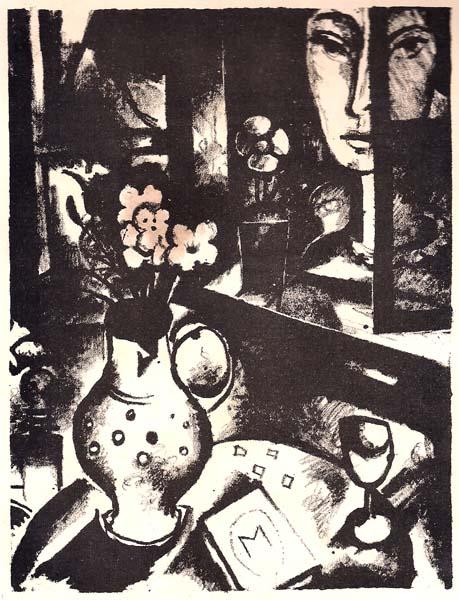 Max BURCHARTZ (Germania, 1887 – 1961) – FRAU VOR DEM FENSTER