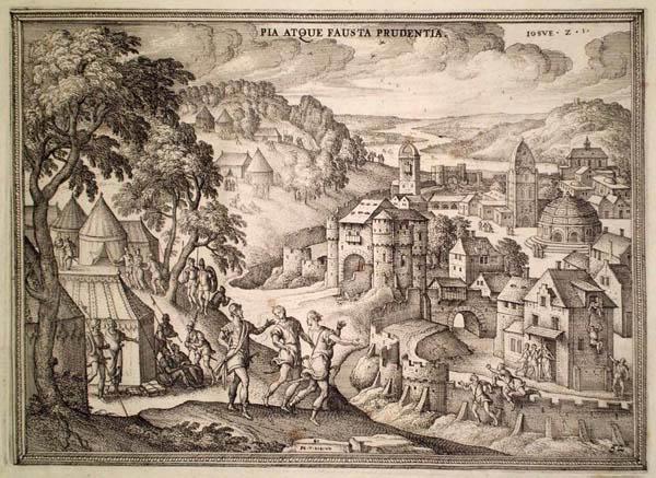 Pieter Van der BORCHT (Olanda, 1545 – 1608) – I SODOMITI COLPITI DA CECITÀ
