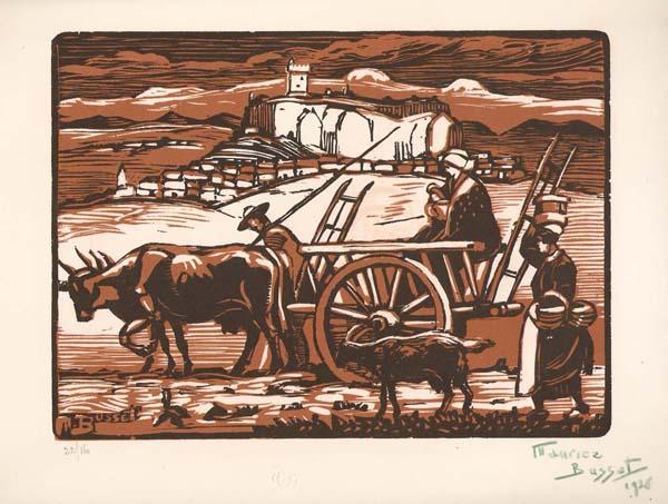 Maurice BUSSET (Francia, 1879 – 1936) – CHATEAU DE POLIGNAC (HAUTE LOIRE)