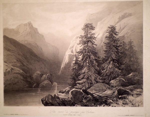 Alexandre CALAME (Svizzera, 1810 – 1864) – UN LAC DES HAUTES ALPES (SUISSE)