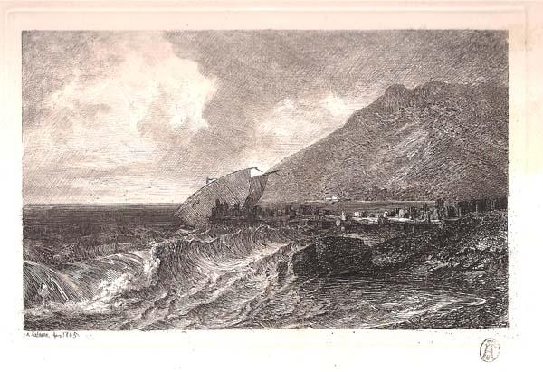 Alexandre CALAME (Svizzera, 1810 – 1864) – MARINA (1845)