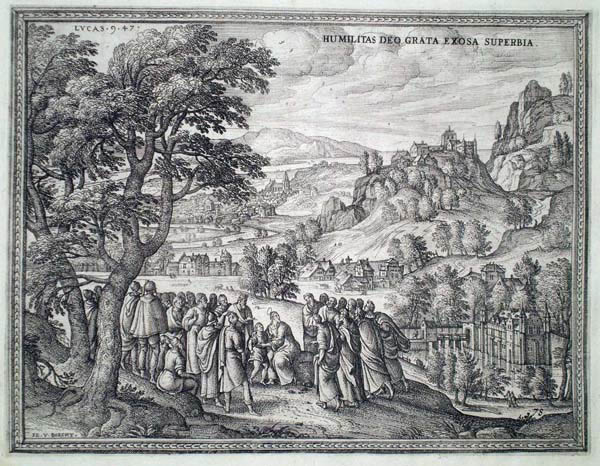 Pieter Van der BORCHT (Olanda, 1545 – 1608) – GESÙ PREDILIGE GLI UMILI