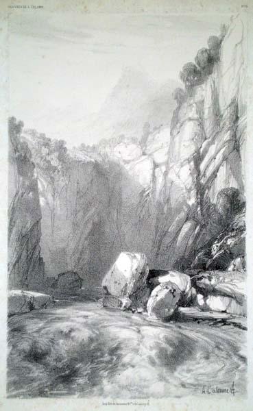 Alexandre CALAME (Svizzera, 1810 – 1864) – TORRENTE