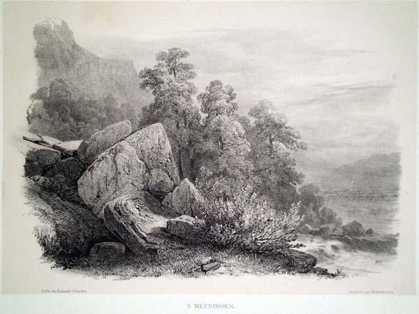 Alexandre CALAME (Svizzera, 1810 – 1864) – À MEYRINGEN