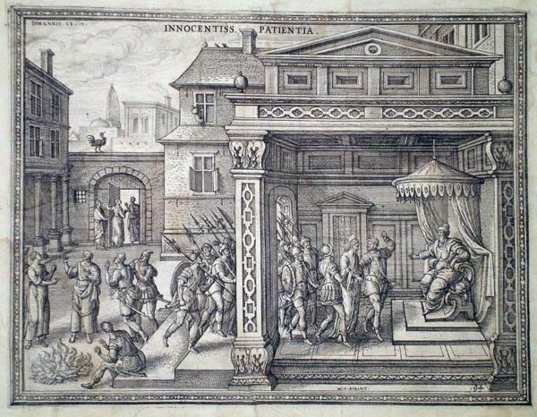 Pieter Van der BORCHT (Olanda, 1545 – 1608) – CRISTO DI FRONTE AD ANNAS