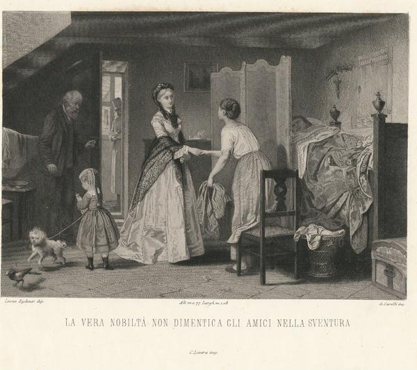 Giacomo CARELLI (Palasso, 1812 – 1887) – LA VERA NOBILTA- NON DIMENTICA GLI AMICI NELLA SVENTURA da L. Eydoux