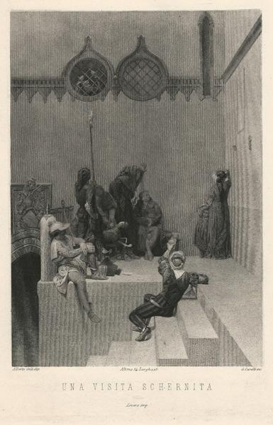 Giacomo CARELLI (Palasso, 1812 – 1887) – UNA VISITA SCHERNITA da A. Gilli