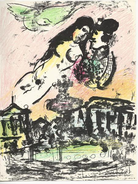 Marc CHAGALL (Russia, 1887 – 1985) – LE CIEL DES AMOUREUX (1957-62)
