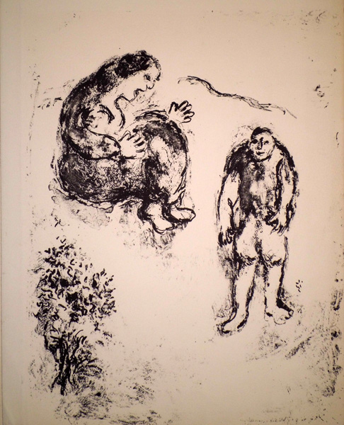 Marc CHAGALL (Russia, 1887 – 1985) – FIGURE E ALBERO
