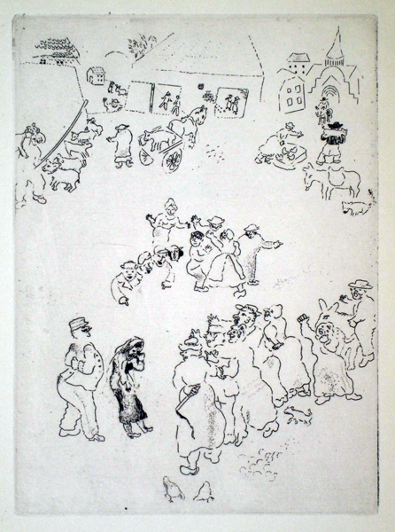 Marc CHAGALL (Russia, 1887 – 1985) – HONTE