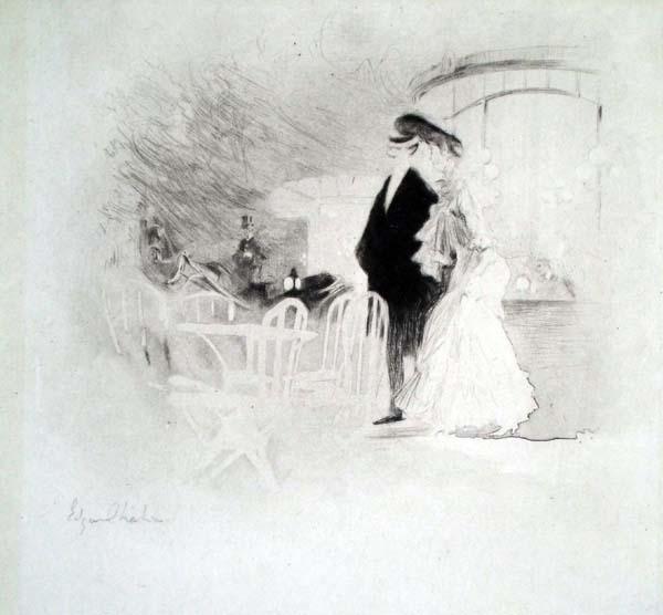 Edgar CHAHINE (Austria, 1874 – 1947) – MADAME NANTEUIL (1905)