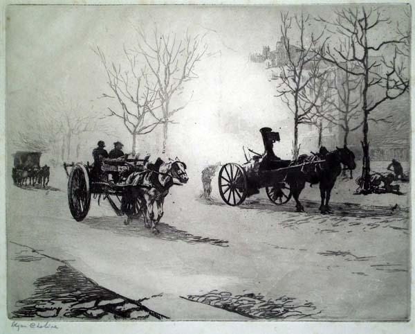 Edgar CHAHINE (Austria, 1874 – 1947) – QUARTIER DU COMBAT (1905)