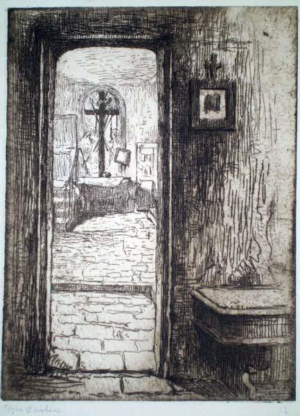Edgar CHAHINE (Austria, 1874 – 1947) – LA SACRISTIE DE SANTA FINA