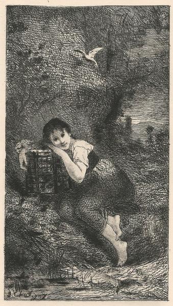 Jean Baptiste CHATIGNY (Francia, 1834 – 1886) – RAGAZZA