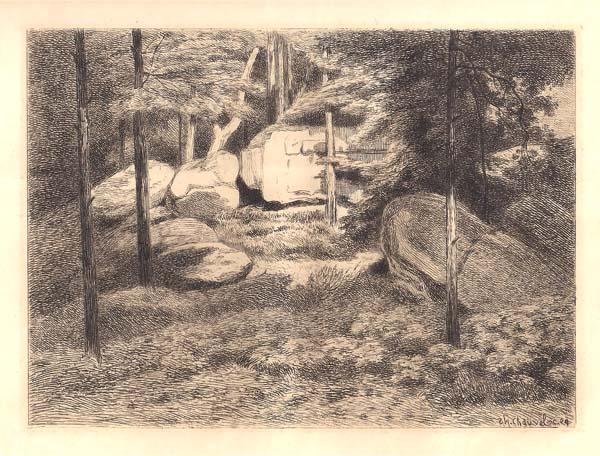 Théophile CHAUVEL (Francia, 1831 – 1910) – ROUTE DE LA BUTTE AUX AIRES (FONTAINEBLEAU)