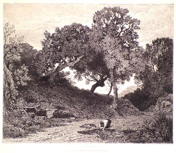 Théophile CHAUVEL (Francia, 1831 – 1910) – SOLITUDE (1862)