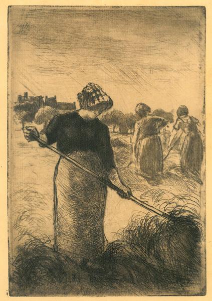 Camille PISSARRO (Francia, 1830 – 1903) – FANEUSES (1890)